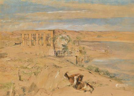 JOHN FREDERICK LEWIS, R.A.   The Hypaethral Temple at Philae