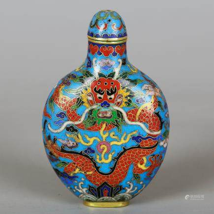 CHINESE CLOISONNE SNUFF BOTTLE