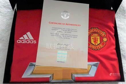 Lot 41 - Anthony Marshall signed shirt win presentaton box,