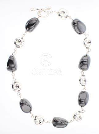 RIM Studio Silver & Hematite Necklace
