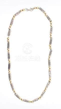 Vintage Barrel Beads Necklace