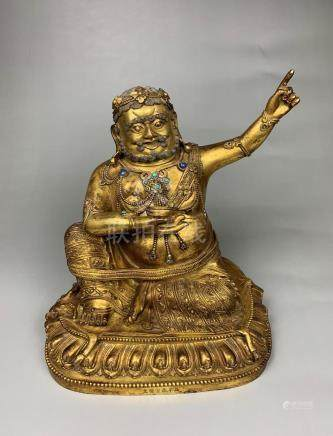 Gilt Bronze Figure of Mahasiddha Virupa