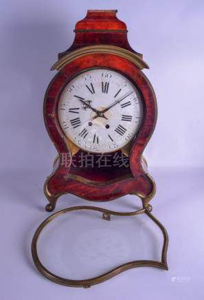 A LARGE 19TH CENTURY FRENCH TORTOISESHELL MANTEL CLOCK