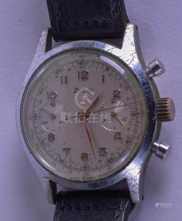 A VINTAGE ZODIAC CHRONOMETER STAINLESS WRISTWATCH the