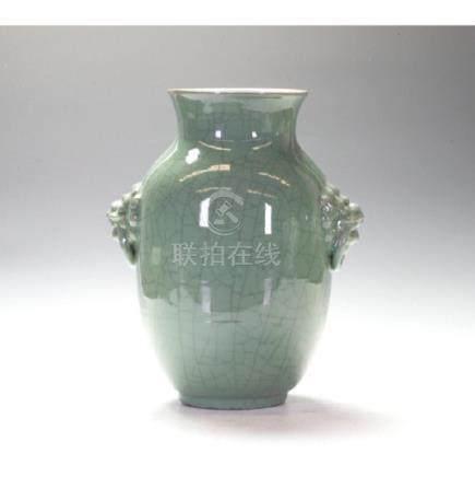 Large Longquan Baluster Vase