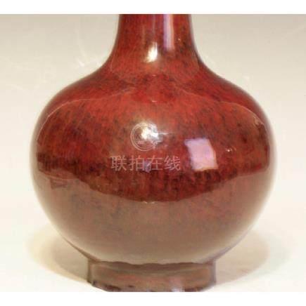 Large Red Glazing Vase
