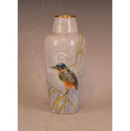 Royal Worcester Kingfish Vase