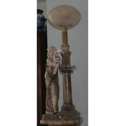 Large Alabaster Lamp