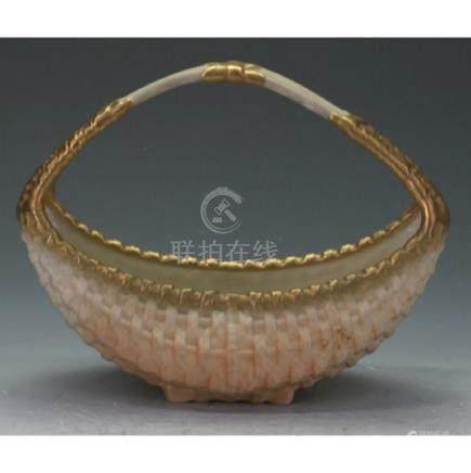 Royal Worcester Flower Basket