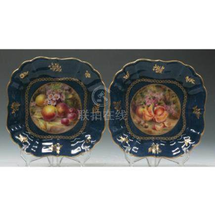 Pair Of Royal Worcester Dishes