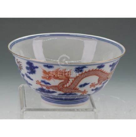 Chinese Porcelain Famillie Rose Bowl
