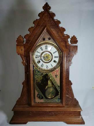 Antique New Haven Clock Co Mantel Clock