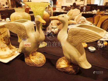 Pair of Chinese water ducks c1940