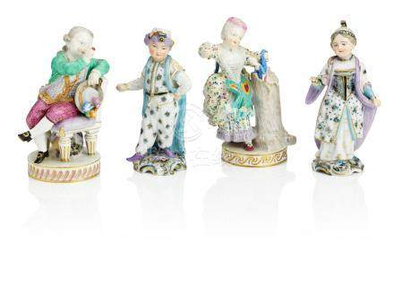 Two Meissen figures of children Late 19th century