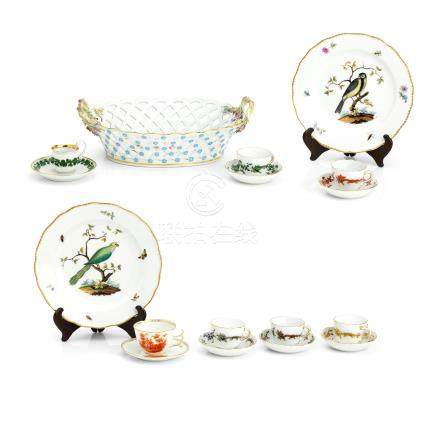 A collection of Meissen porcelain Late 19th/early 20th century