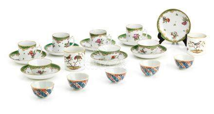A collection of various European porcelain 18th century
