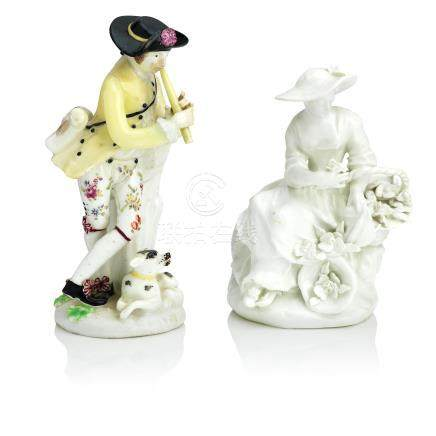 Two Bow figures Circa 1760