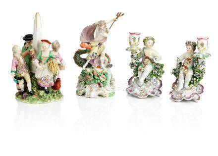 Four Derby figures Late 18th century