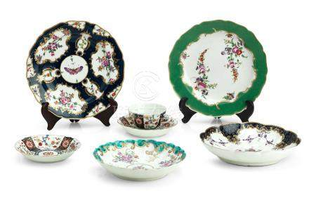 A collection of Worcester porcelains Circa 1770-85