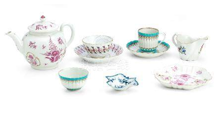 A collection of Worcester porcelains Circa 1775-90