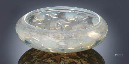 René Lalique (French, 1860-1945) A 'Cyprins' Bowl, designed in 1921
