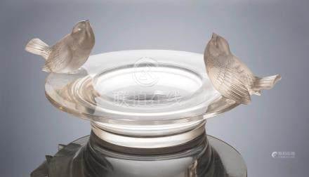René Lalique (French, 1860-1945) A 'Deux Moineaux Moquers' Bowl, designed 1930