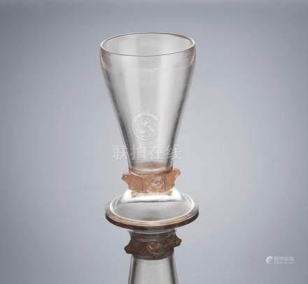 René Lalique (French, 1860-1945) A 'Quatre Grenouilles' Glass, designed in 1912