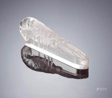 René Lalique (French, 1860-1945) A 'Langoustine' Paperweight, designed in 1933