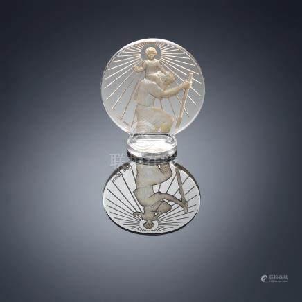 Renê Lalique (French, 1860-1960) A 'Saint-Christophe' Car Mascot