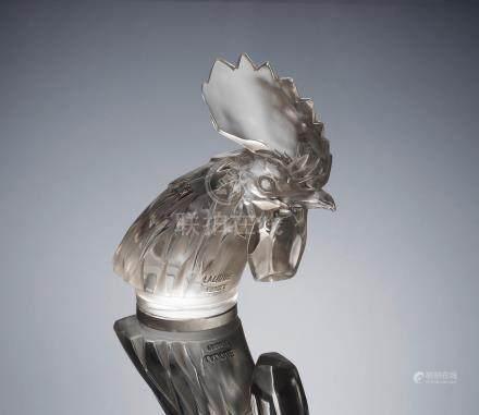 René Lalique (French, 1860-1945) A 'Tête de Coq' Car Mascot, designed in 1928
