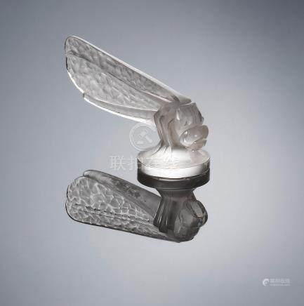 René Lalique (French, 1860-1945) A 'Petite Libellule' Car Mascot, designed in 1928