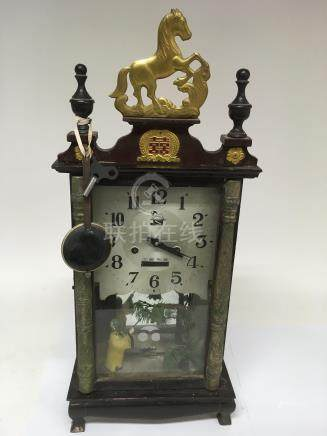 A Chinese clock with mirror back - NO RESERVE