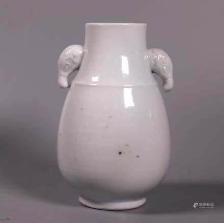 Chinese 18 C Blanc de Chine Porcelain Hu Vase
