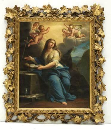 Giuseppe Mazzolini; Oil Canvas; Mary Magdalene