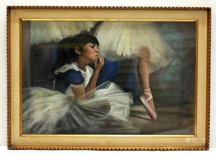 Helen van Rensselaer; Pastel Dreaming at Ballet