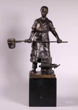 Otto Schmidt-Hofer; Bronze Caster Sculpture