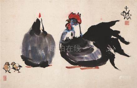 程十发 母鸡 CHENG SHI FA CHICKEN