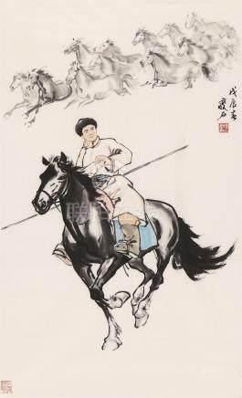 尹瘦石 人物 YING SHOU SHI FIGURE