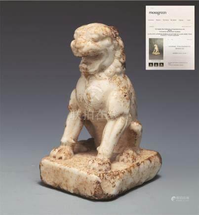 唐汉白玉狮子 TANG DYNASTY WHITE MARBLE LION