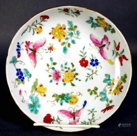 Old Chinese Porcelain Butterfly Plate