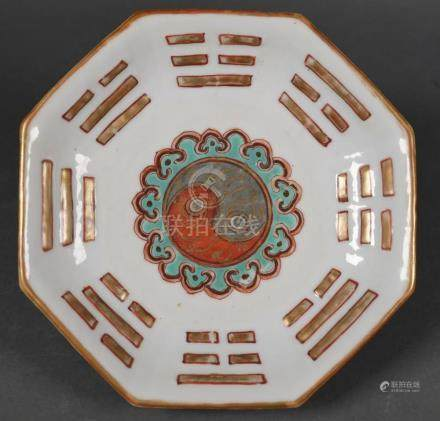 Antique Chinese Porcelain Dish, Octagonal