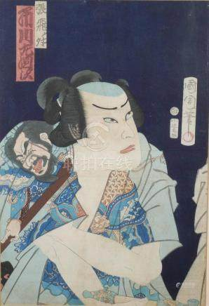 19th Century Kunichika Japanese Woodblock Print