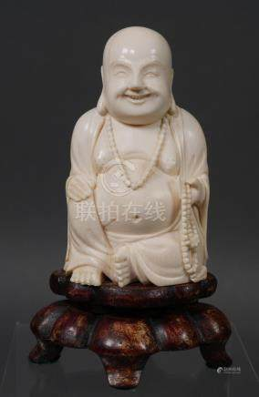 Antique Chinese Buddha Statue Ivory Carving