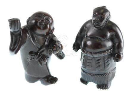 Two Signed Japanese Boxwood Netsuke