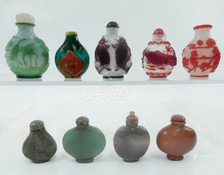 Snuff bottle grouping