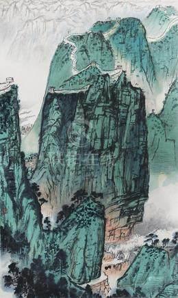 錢松喦  長城(榮寶齋印製)