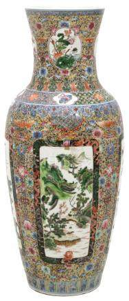 Chinese Porcelain 36 Inch Floor Vase