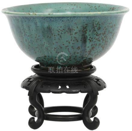 Chinese Green Glaze Porcelain Bowl