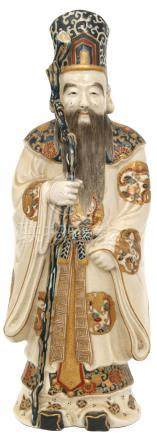 Chinese Immortal Standing Porcelain Figure