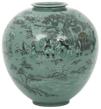 20th Century Koryo Style Pottery Vase
